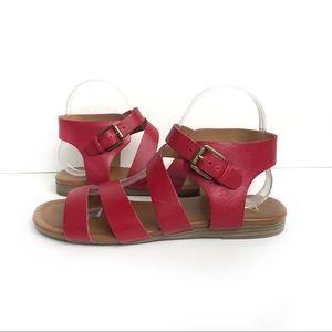 Franco Sarto Red Gladiator Sandal Size 9.5